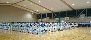 グランド不良の為体育館での開会式.JPG