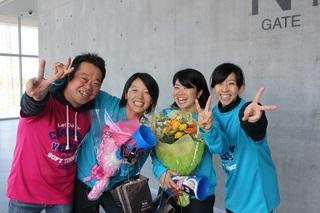 今大会で引退する花野・古川ペアと大津夫妻.JPG