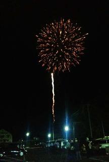 全国500歳野球大会の為に打ち上げられた花火の数々.JPG