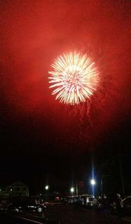 全国500歳野球大会の為に打ち上げられた花火の数々 (2).JPG
