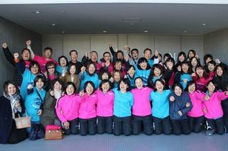 応援団を含むチーム「ナガセケンコー」.JPG