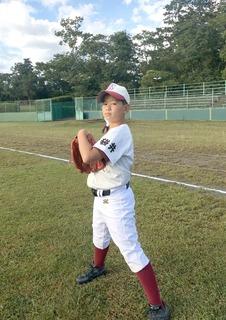 浅羽ジュニア野球クラブ主将・大岡恵士君�E.JPG